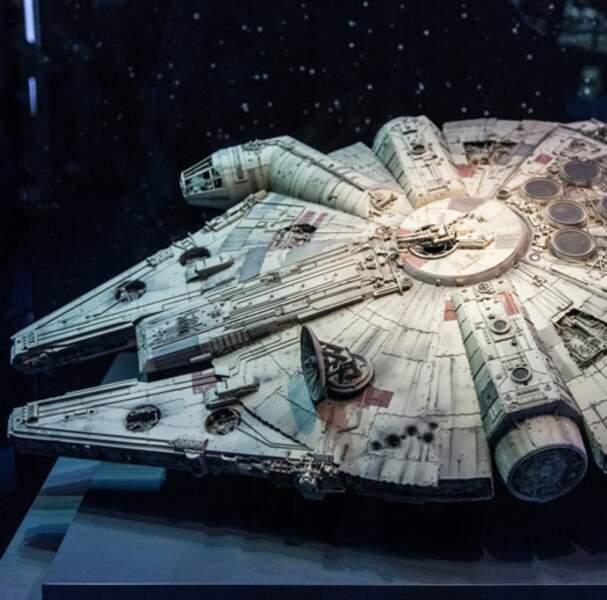 Le faucon Millenium, vaisseau spatial de Han Solo et Chewbacca