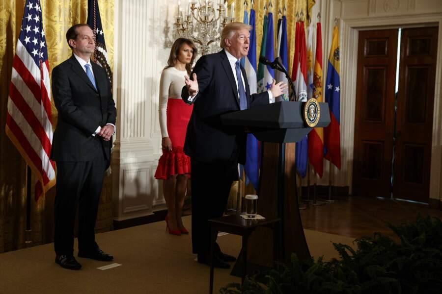 Donald Trump présidait un hommage à la communauté hispanique ce vendredi 6 octobre à la Maison Blanche