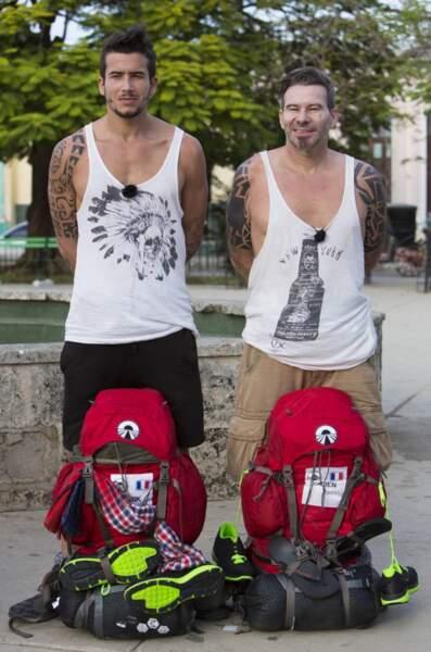 Tarik et Fabien (qui ont changé de tee shirt)