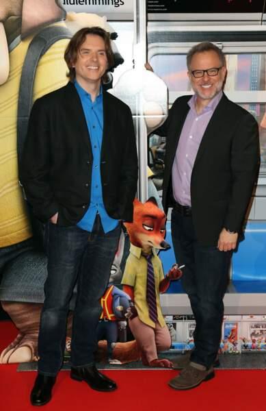 Les réalisateurs du film Zootopie, Byron Howard et Rich Moore