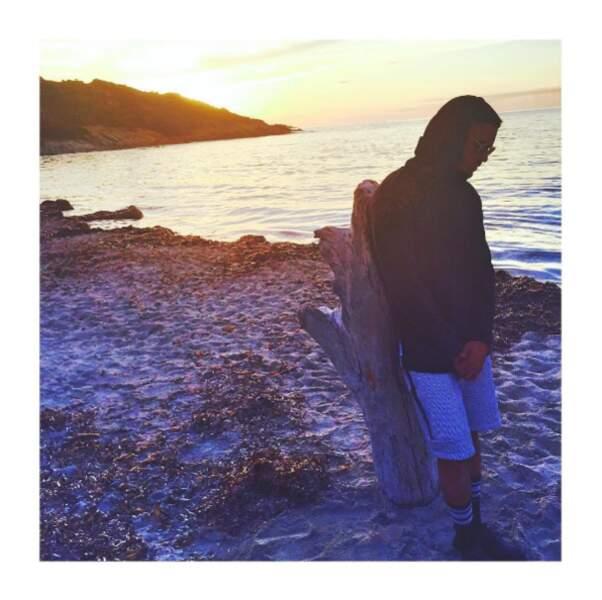 Et Baptiste Giabiconi était vachement heureux d'être en Corse.