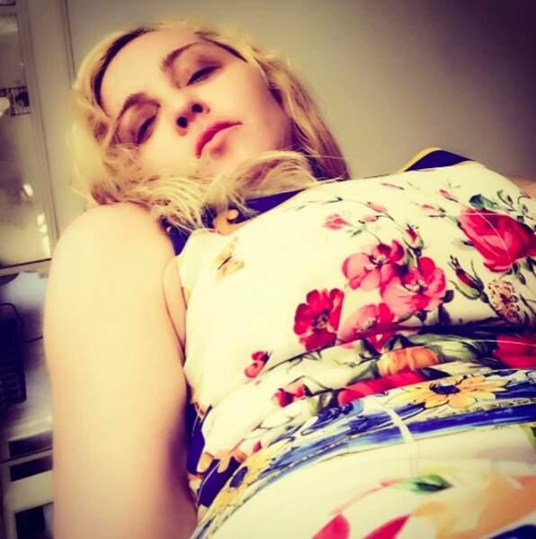 Du côté de Madonna, ça a pas trop l'air d'être la forme.