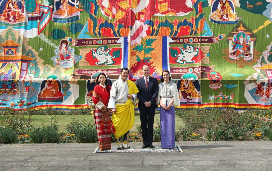 10 au 16 Avril 2016 : voyage en Inde et au Bhoutan. Kate et William rencontrent les Kate et William de l'Himalaya