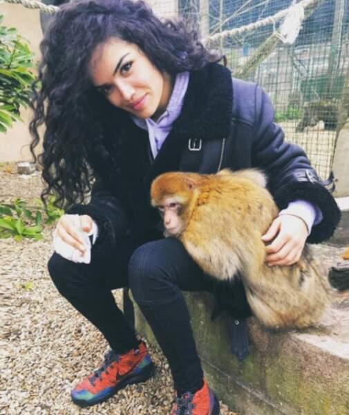 L'actrice aime aussi les singes