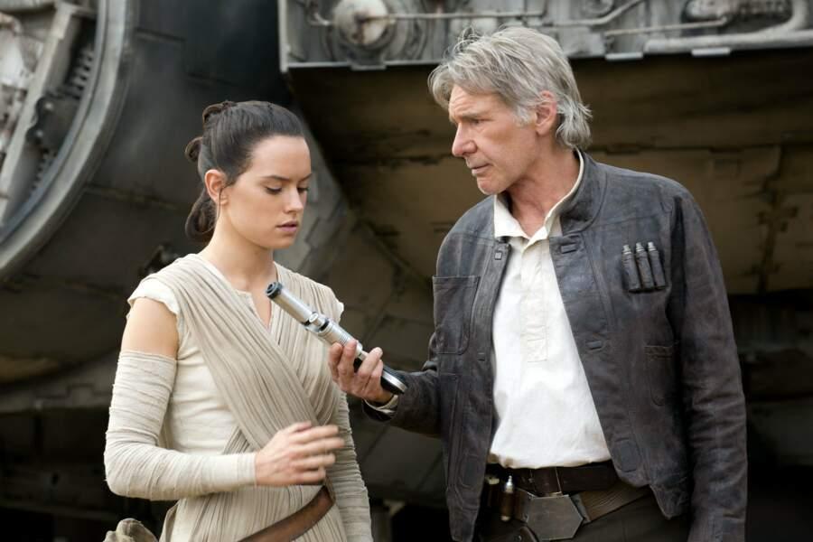 Le Réveil de la Force : passage de témoin entre Rey et Han Solo