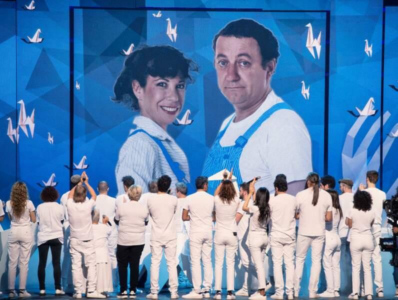 La troupe rend hommage à Véronique Colucci