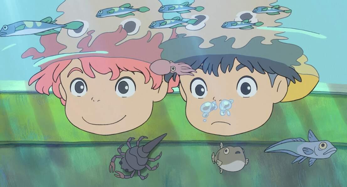 Ponyo sur la falaise (2008) : Une fois n'est pas coutume, ce conte ne se passe pas dans les airs...