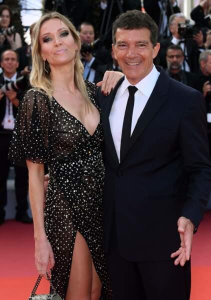 Antonio Bandera, le prix d'interprétation masculine, et sa compagne Nicole Kimpel