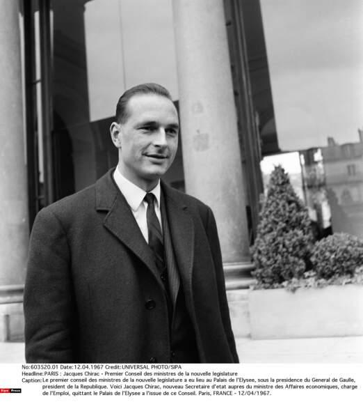 1967 : première marche gravie pour le nouveau secrétaire d'Etat, chargé des Problèmes de l'Emploi