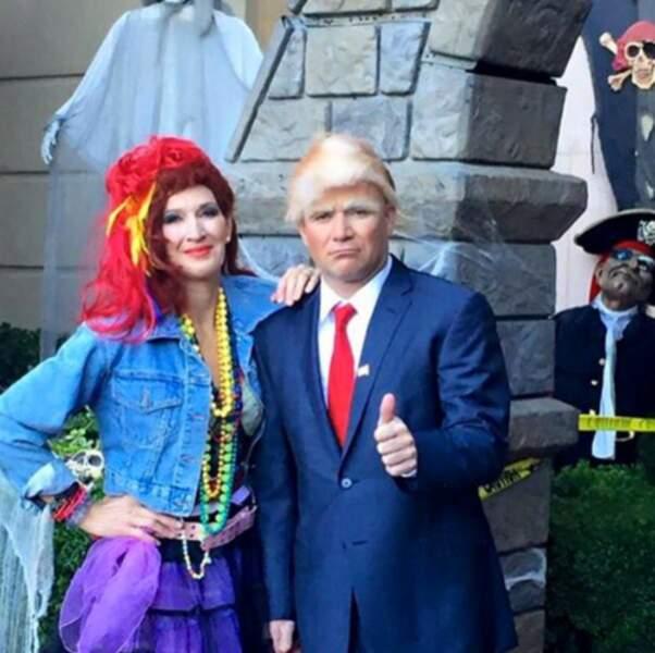 Très réussi : Donald Trump et Cindy Lauper par Andre Agassi et Steffi Graf !