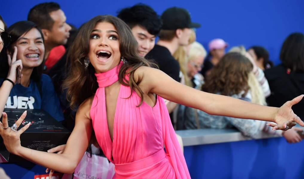 La jeune Zendaya est, elle aussi, au générique du film. Et elle n'était que joie !