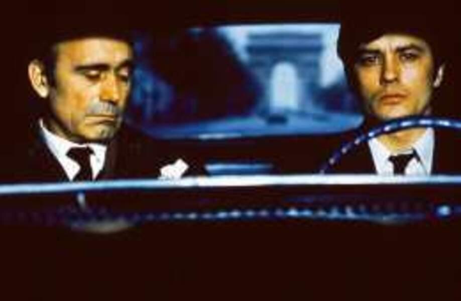 Alain Delon et Paul Crauchet dans le film culte Un Flic (1972) de Jean-Pierre Melville