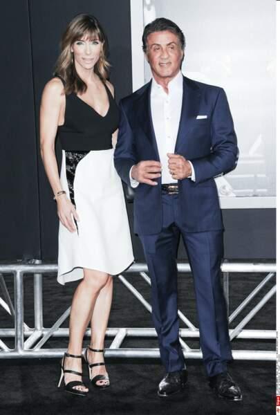 Stallone était lui aussi en famille : il a posé avec sa femme, Jennifer Flavin…
