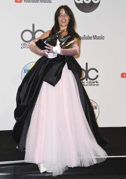 La grande gagnante de la soirée, c'était Camilla Cabello et ses 4 prix !