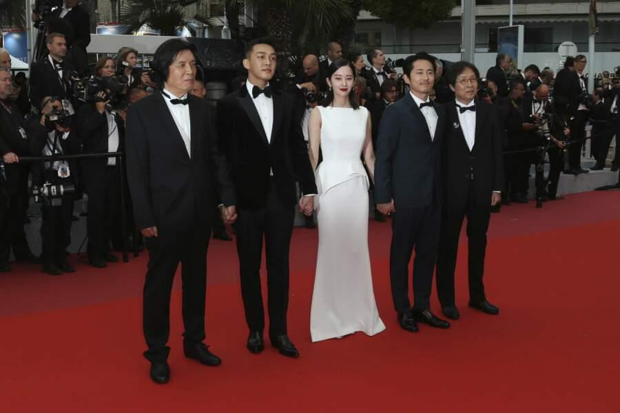 L'équipe du film Burning, de Lee Chang-dong