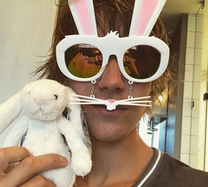 Justin Bieber s'est déguisé en lapinou