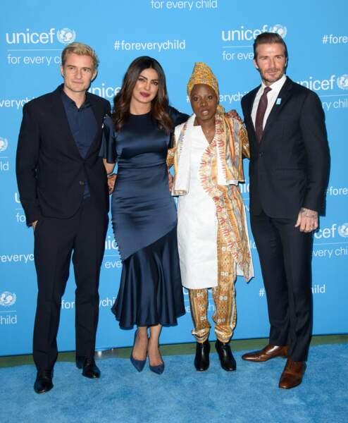 De nombreuses stars ont participé au 70eme anniversaire de l' UNICEF à New York
