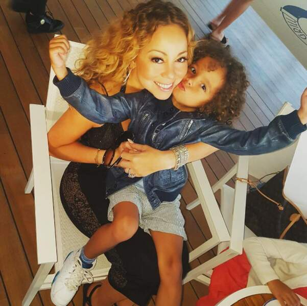 Mariah Carey et son fils Morrocan.