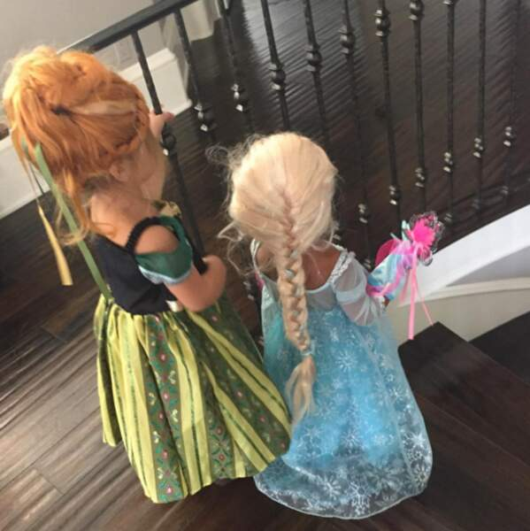 North West s'est transformée en Elsa de la Reine des Neiges le temps d'une soirée.