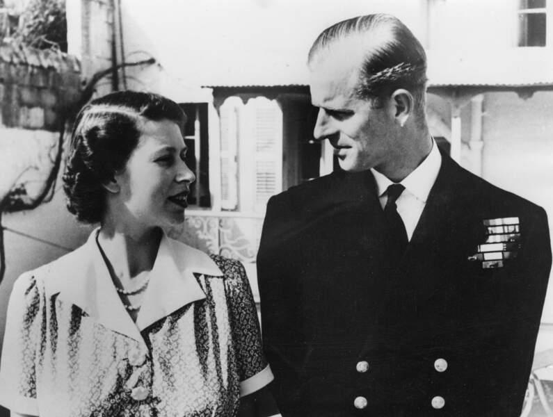 La princesse et son officier de mari s'installent à Malte en 1949