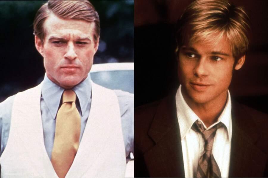 Jeunes premiers romantiques : Robert Redford dans Gatsby le magnifique. Brad Pitt dans Rencontre avec Joe Balck