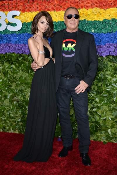 Mais elle a posé avec son ami, le styliste Michael Kors