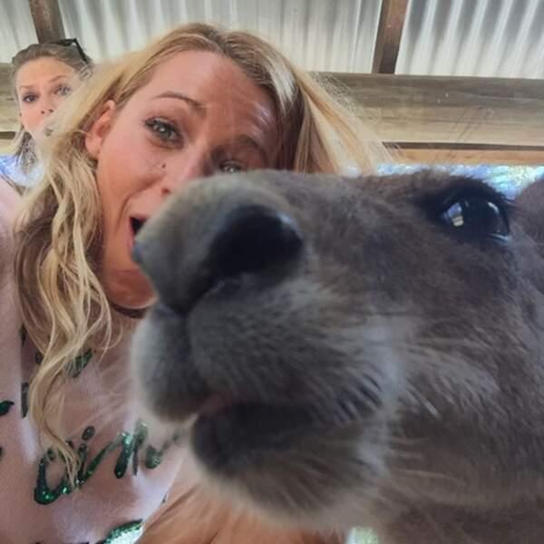 Photobomb ultime : Taylor Swift sur ce selfie de Blake Lively et un kangourou.