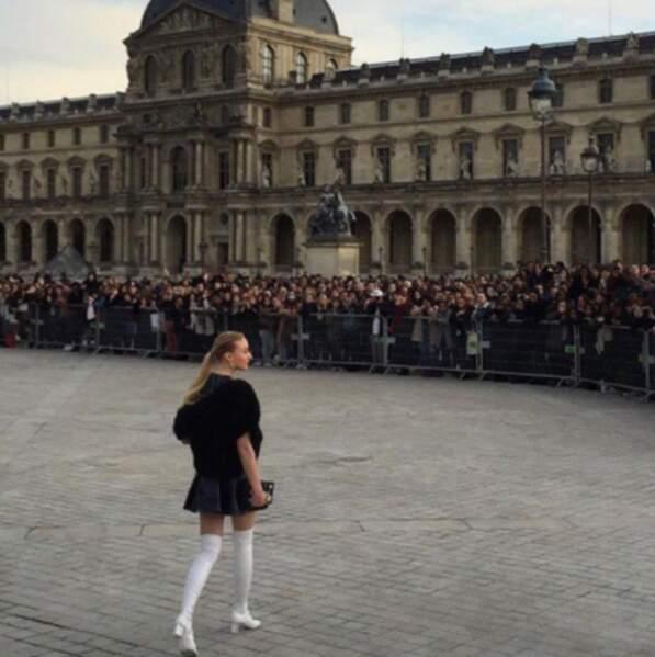 Photographes et touristes ont apprécié la venue de l'actrice