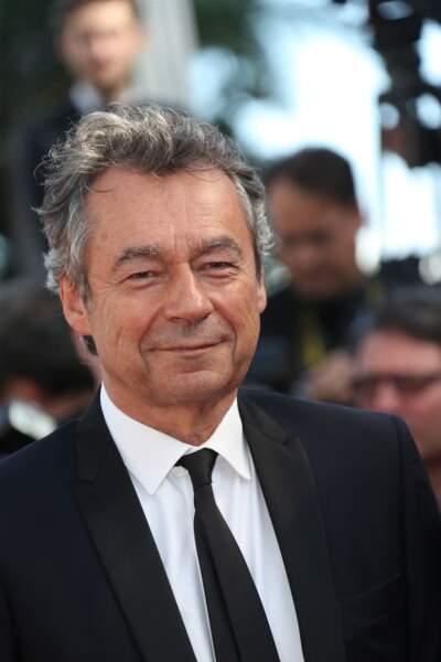 """Michel Denisot lors de la montée des marches pour """"Youth"""" au Festival de Cannes"""