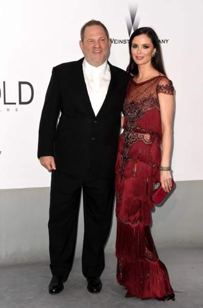 Harvey Weinstein et Georgina Chapman à la soirée de l'AmfAR à Antibes, le 22 mai 2014