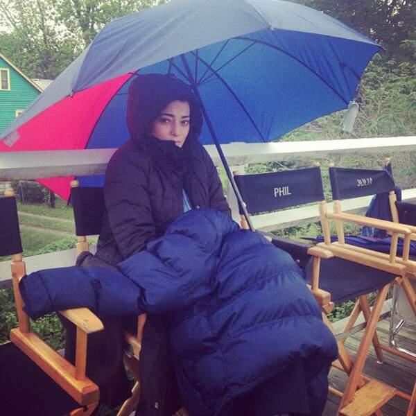 La vie d'actrice, quel dur métier ! Surtout dans la météo fait des caprices ! Courage Natalie...