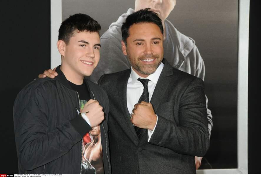 Le boxeur était venu avec son fils Devon