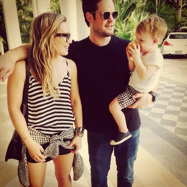 La Saint-Valentin pour Hilary Duff, c'est en famille !