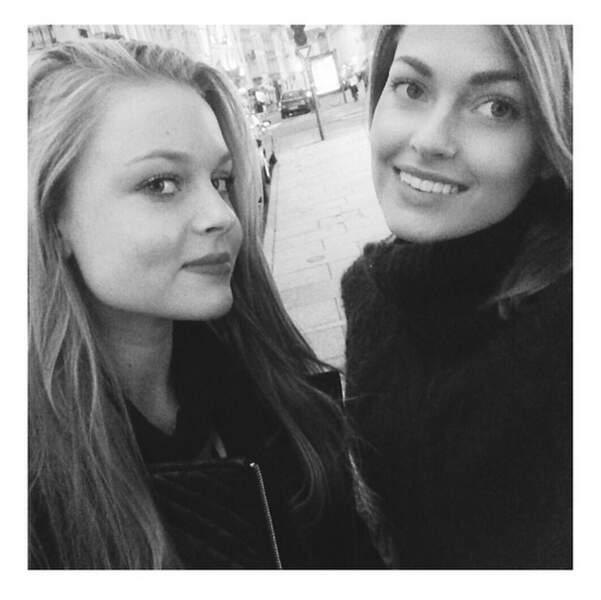 Pendant ce temps, Caroline Receveur est dans les Vosges avec sa soeur