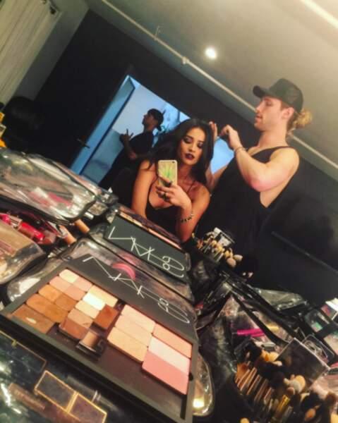 Et le maquillage est un must quand on est actrice et mannequin,