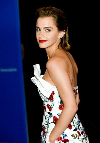 La belle Emma Watson était aussi invitée. Quelle classe !