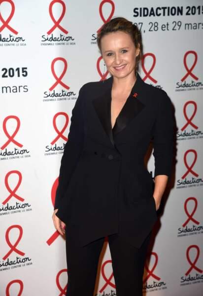 Caroline Roux lors de la conférence de presse du Sidaction le 2 mars 2015