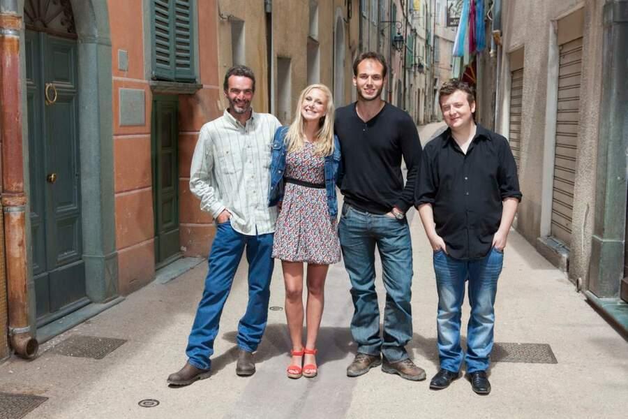 Les trois habitants de Breil-sur-Roya avec Julie Taton