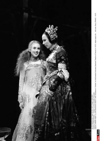 Avec Genevieve Casile dans la pièce Ondine, en 1972
