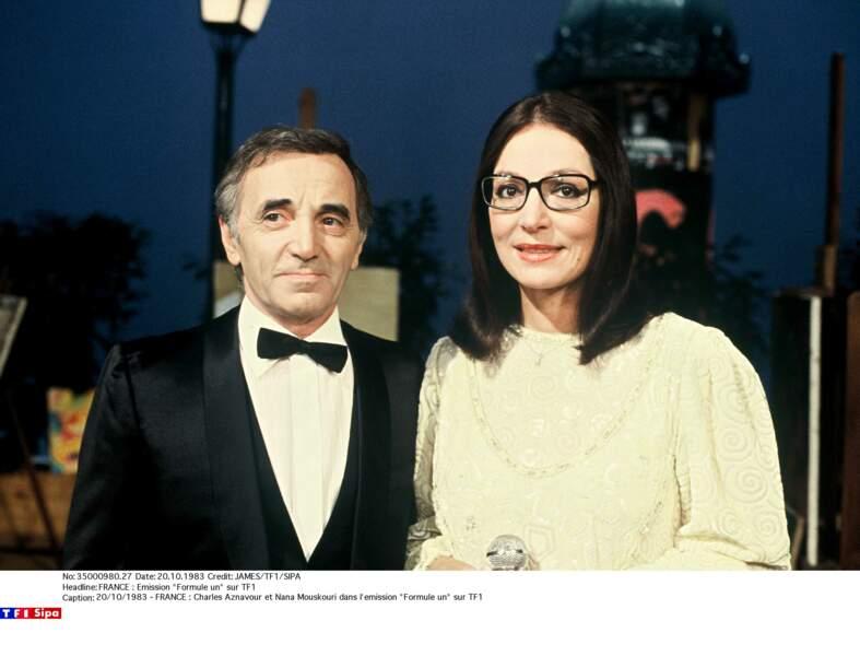 Avec Nana Mouskouri dans l'émission Formule un sur TF1 en 1983