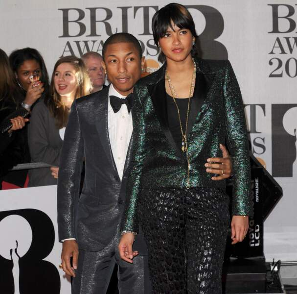 Le roi Pharell Williams était venu aux Brit Awards en compagnie de sa (GRANDE) épouse, Helen Lasichanh