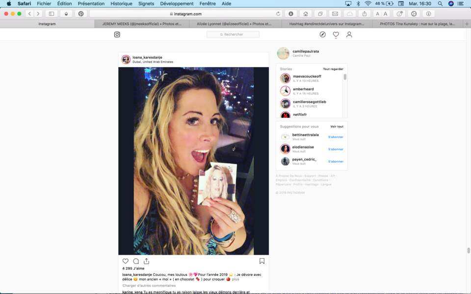 Loana croque la vie (et son ancienne silhouette en chocolat) à pleines dents à Dubaï