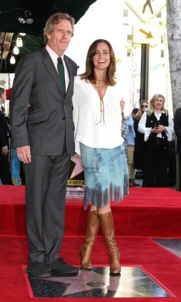 Il était notamment accompagné de Diane Farr, sa partenaire dans sa nouvelle série Chance