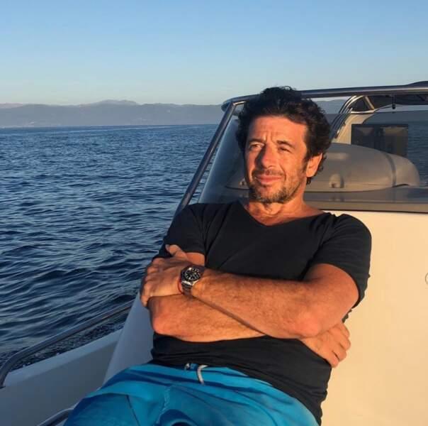 On espère que vous êtes aussi détendus que Patrick Bruel au large de la Corse.