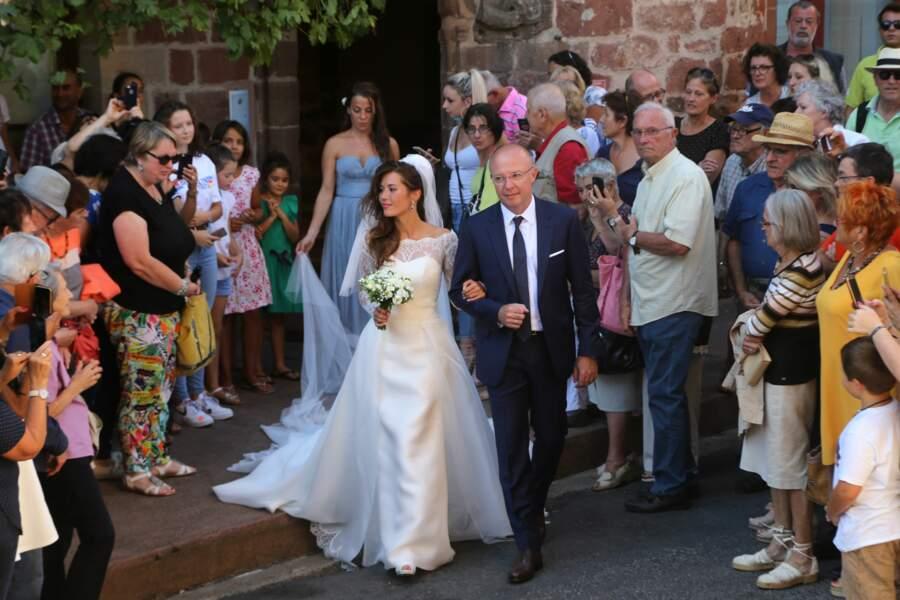 La robe de la mariée Emilie Broussouloux, était absolument somptueuse
