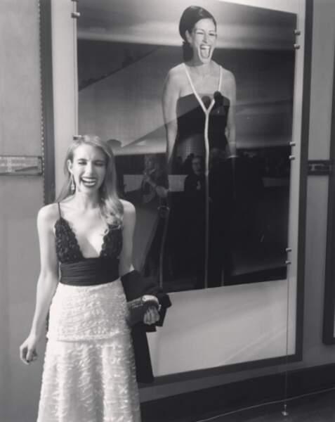 Et cet hommage d'Emma Roberts à sa tante, Julia !