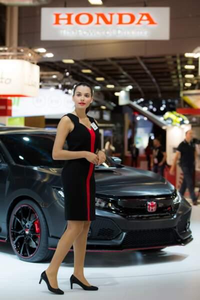 En rouge et noir, chez Honda