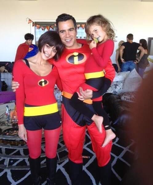 Super Jessica Alba qui a déguisé sa petite famille en héros des Indestructibles