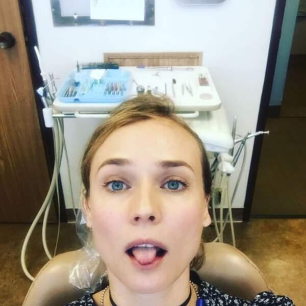 Comme tout le monde, elle n'aime pas vraiment aller chez le dentiste