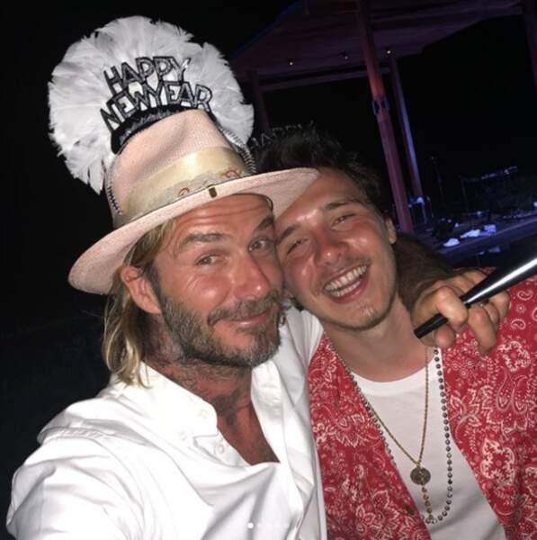 David Beckham et son fils aîné Brooklyn, complices de soirée !